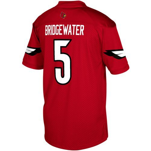 Adidas Men's University of Louisville Teddy Bridgewater 5 Replica Jersey (Red, Size Medium) - NCAA Licensed Product, NCAA Men's Tops at Academy Sports