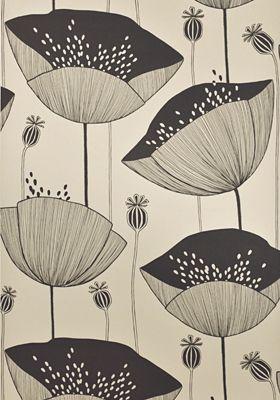 Poppy Limestone Wallpaper