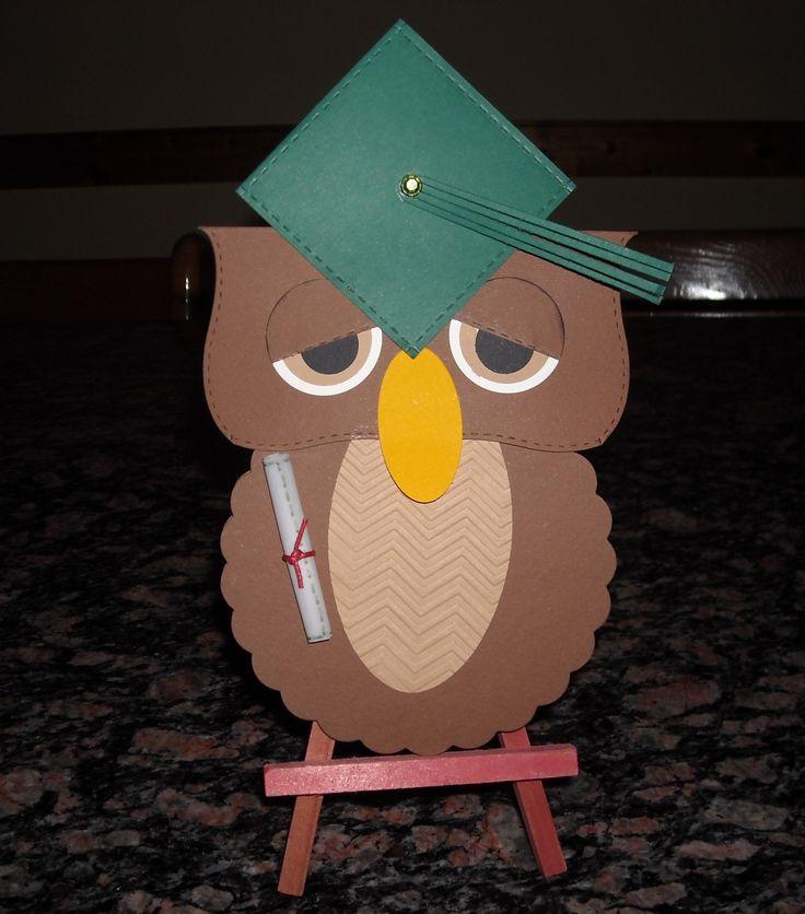 """Biglietto per laurea, realizzato anche con le fustelle di """"La Coppia Creativa"""" http://www.lacoppiacreativa.com/"""