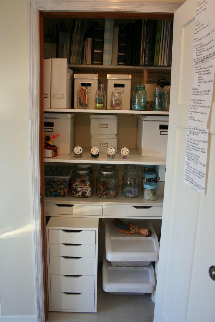 Craft closet storage - 171 Best Images About Craft Storage On Pinterest Crafts Craft Room Closet And Armoires