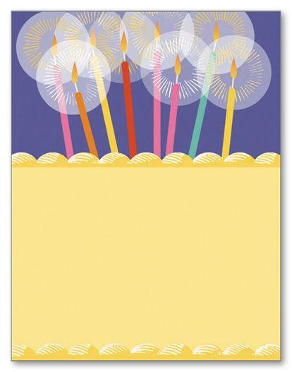 Snap birthday candle stationery Wedding Stationery Letterhead - birthday letterhead