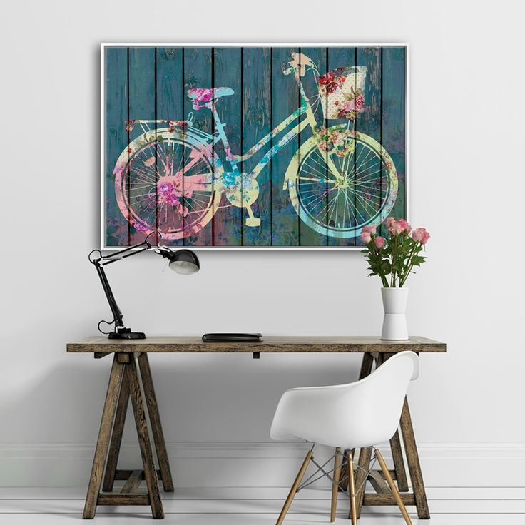 FLOWER BIKE  MIXGALLERY transport,bicycle,vintage,wallart,canvas,canvas print,home decor, wall,framed prints,framed canvas,artwork,art