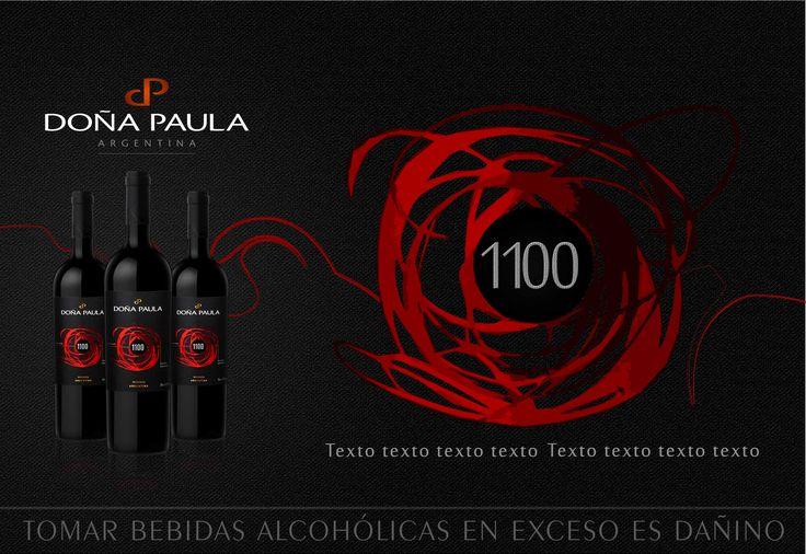 Modelo final  para Catàlogo , Vino Doña Paula 1100