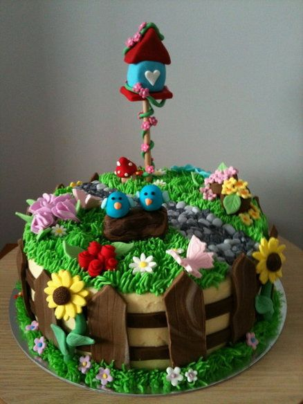 garden cake cake by angiejay - Garden Design Birthday Cake