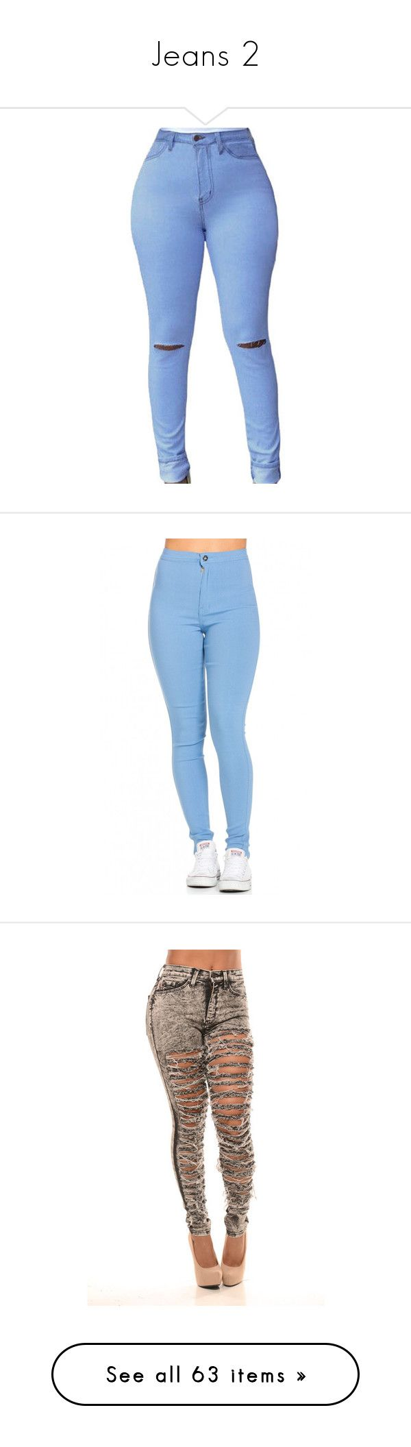 """""""Jeans 2"""" by unicornchaby ❤ liked on Polyvore featuring jeans, pants, bottoms, jeans/pants, blue high waisted jeans, high-waisted jeans, denim skinny jeans, skinny jeans, light blue high waisted jeans and pantalones"""