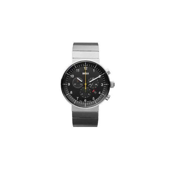 Braun Prestige Analog Watch, Steel Link Band