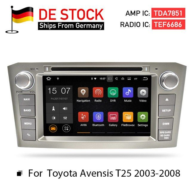 Online Shop 4g Ram Android 8 0car Dvd Stereo Multimedia Headunit For Toyota Avensis T25 2003 2008 Auto Radio Gps Navigatio Toyota Avensis Gps Navigation Toyota