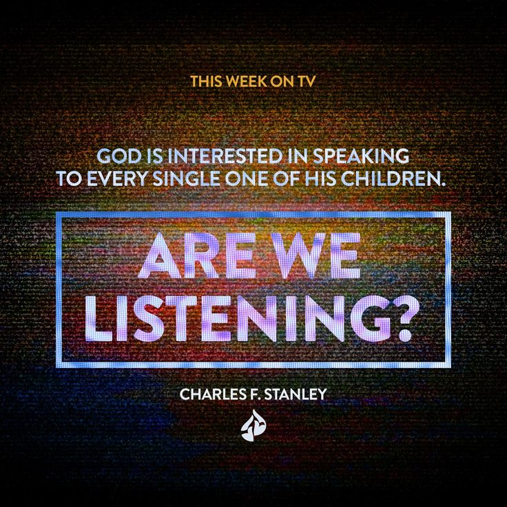 "We live in a society of noise, noise, noise. How can we ""tune in"" to the voice of God?  Watch online"