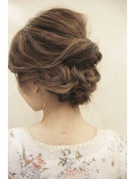 アップスタイル : [可愛い]ルーズで可愛い編み込みヘアアレンジ画像まとめ - NAVER まとめ