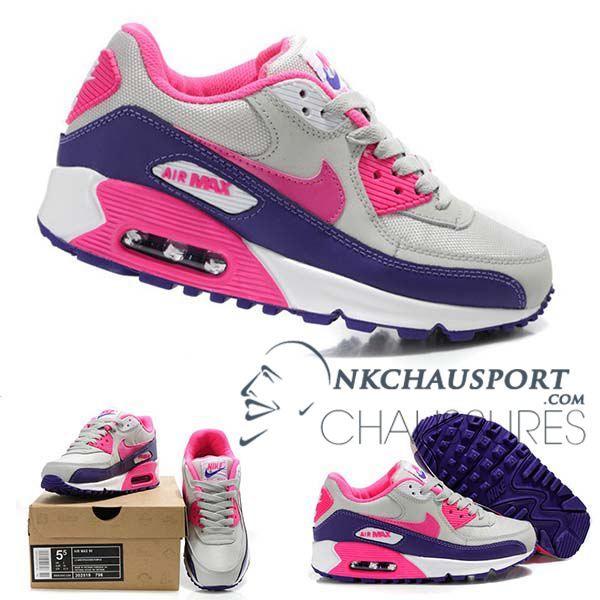 Nike Air Max 90 | Meilleur Chaussures Running Homme Mesh Blanche Rose