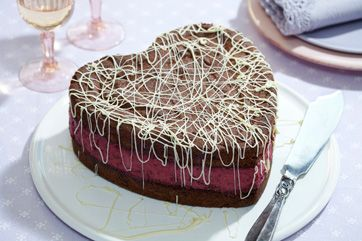 Solbær-chokoladekage