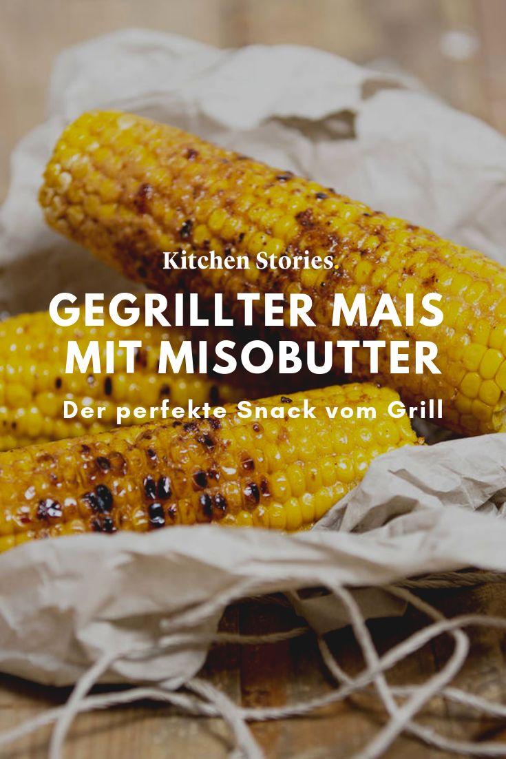 Gegrillter Mais mit Misobutter