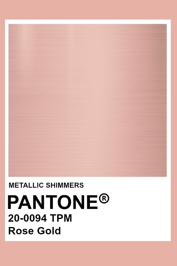 Rose Gold #Metallic #Pantone #Color | palette in 2019 ...