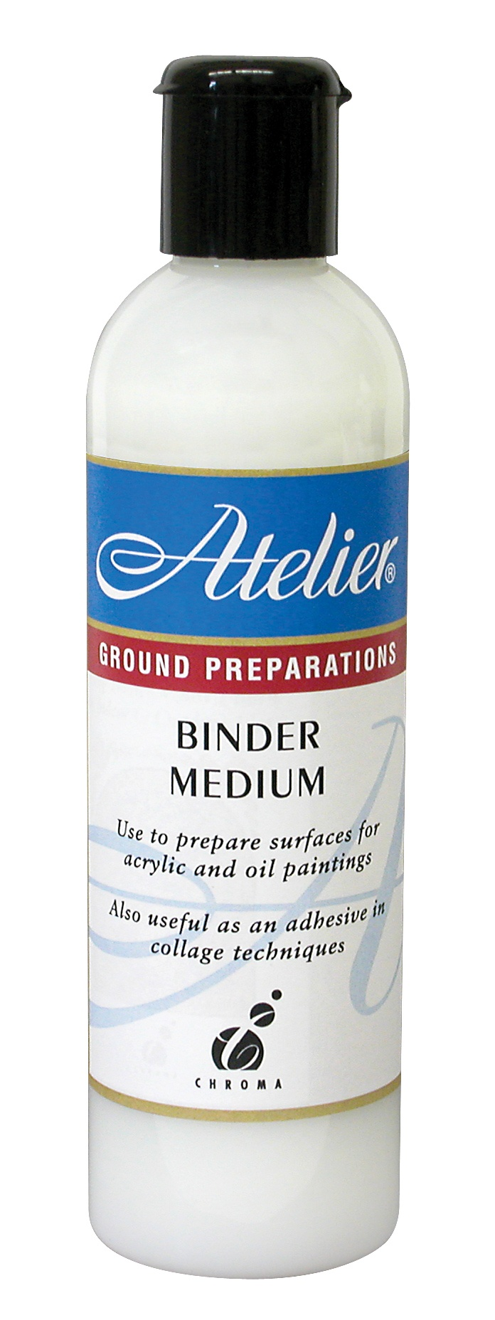 Atelier binder medium a waterbased acrylic emulsion for Can you use emulsion paint on canvas