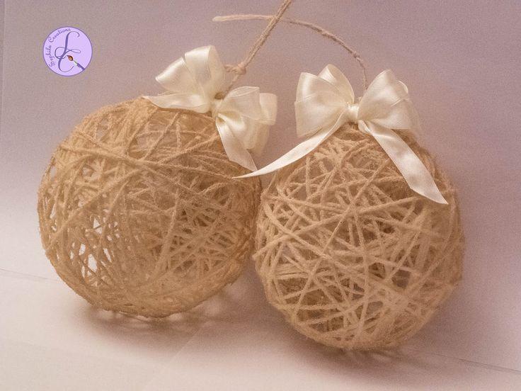 Tutorial: Palline di Natale shabby con lana (Christmas wool balls) [eng-...