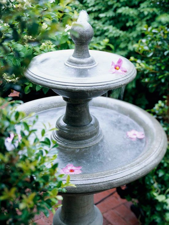 25 best ideas about concrete fountains on pinterest for Homemade tabletop water fountain
