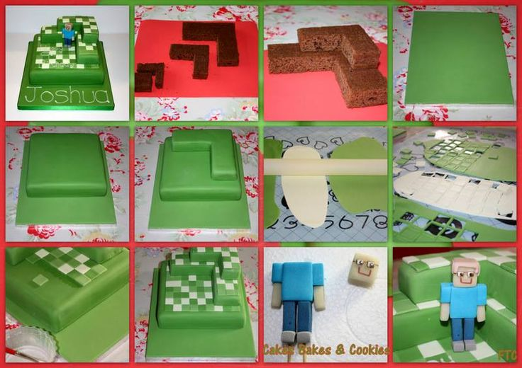 How to Make a Minecraft Birthday Cake | Delishably