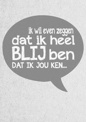 Blij met jou!❤️