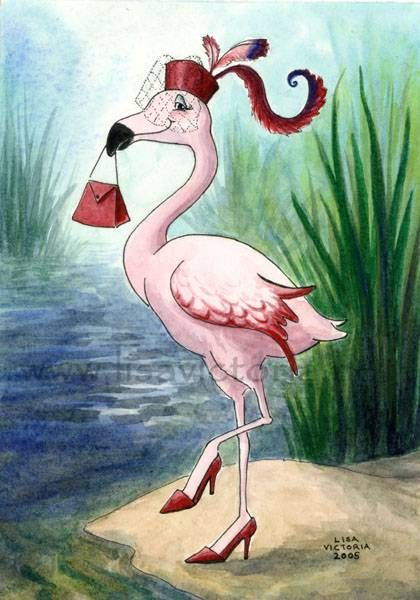 FAIRY ON A PINK FLAMINGO | Lets Go Shopping - Pink Flamingo by Lisa Victoria. 8 x 10 Single ...