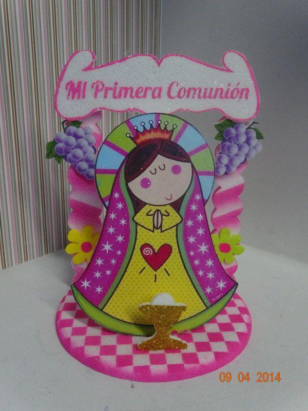 Decoracion Primera Comunion Virgen De Guadalupe ~ de torta en icopor de Primera Comuni?n de La Virgen de Guadalupe