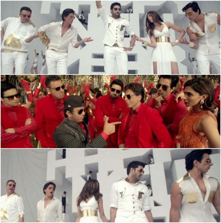 Director Farah Khan released the new track from 'Happy New Year', 'Sharabi' and there are back in youtube . The peppy track features Shah Rukh Khan, Deepika Padukone, Abhishek Bachchan, Boman Irani, Sonu Sood and Vivaan Shah as they grooving...