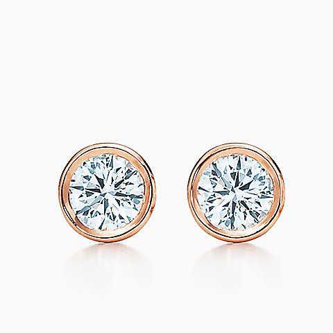 Elsa Peretti® Diamonds by the Yard® earrings in 18k rose gold.
