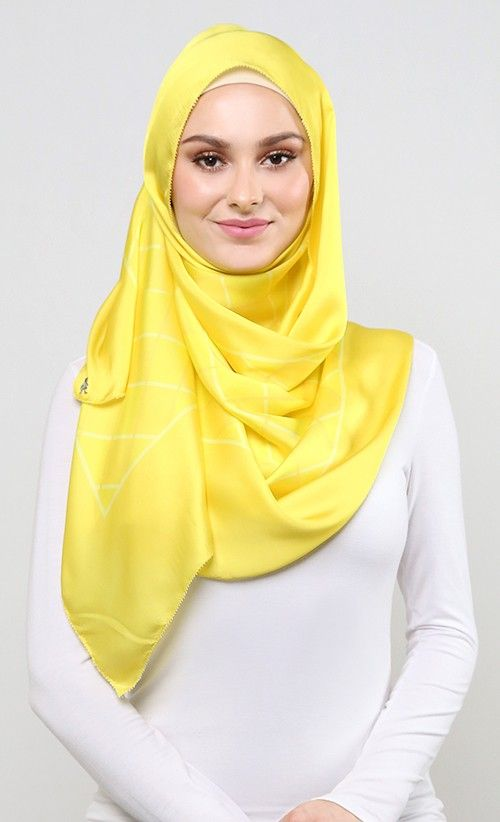 Weave Shawl in Yellow