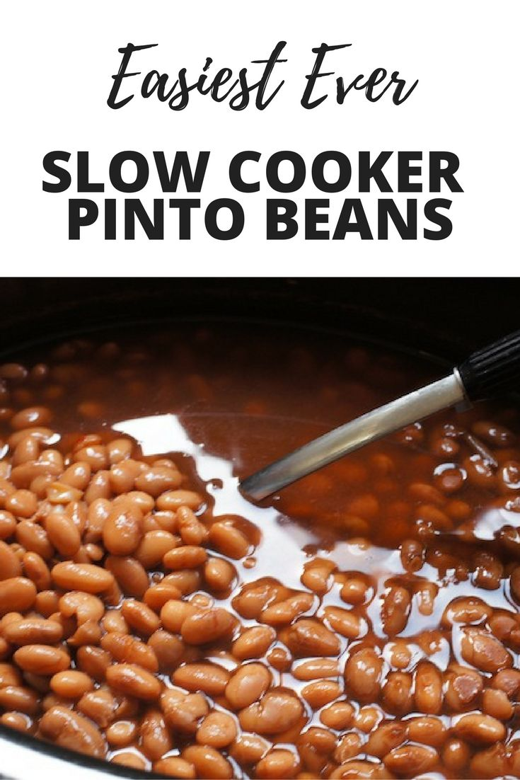 Slow Cooker Pinto Beans   Recipe   Cooking Tips   Pinto ...