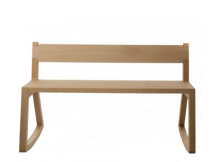 Solid wood bench with back TINA - Covo