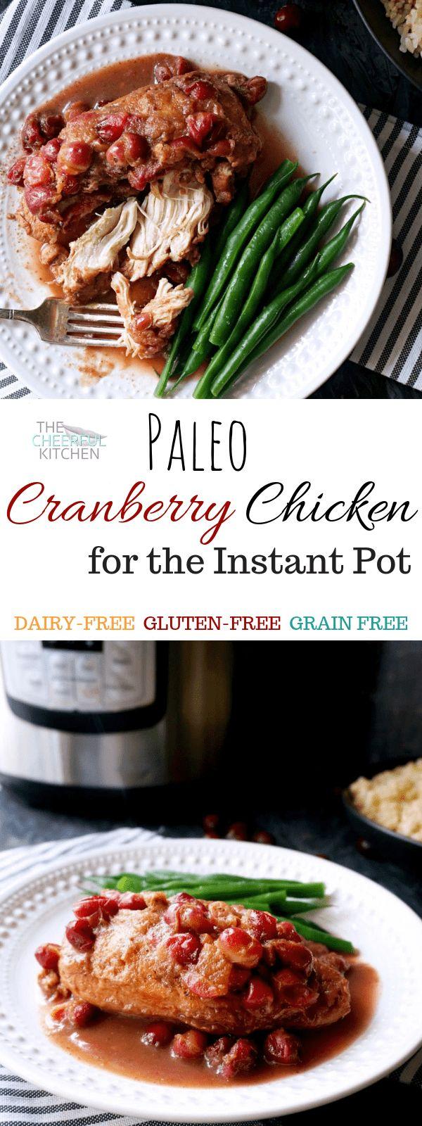 Paleo Cranberry Chicken für den Instant Pot ist ein Vollwertgericht, das …