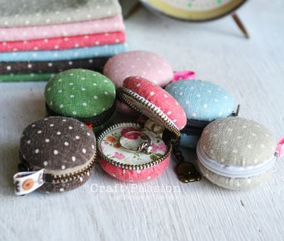 Macarroon coin purses - this would be super cute for the wedding rings!