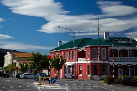 Commercial Hotel, main street, Roxburgh, Central Otago, South Island, New Zealand
