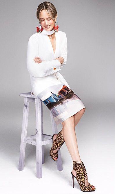 Silvia Tcherassi - casula chic - white shirt - animal print shoes - pencil skirt - coral earrings - #tcherassilook