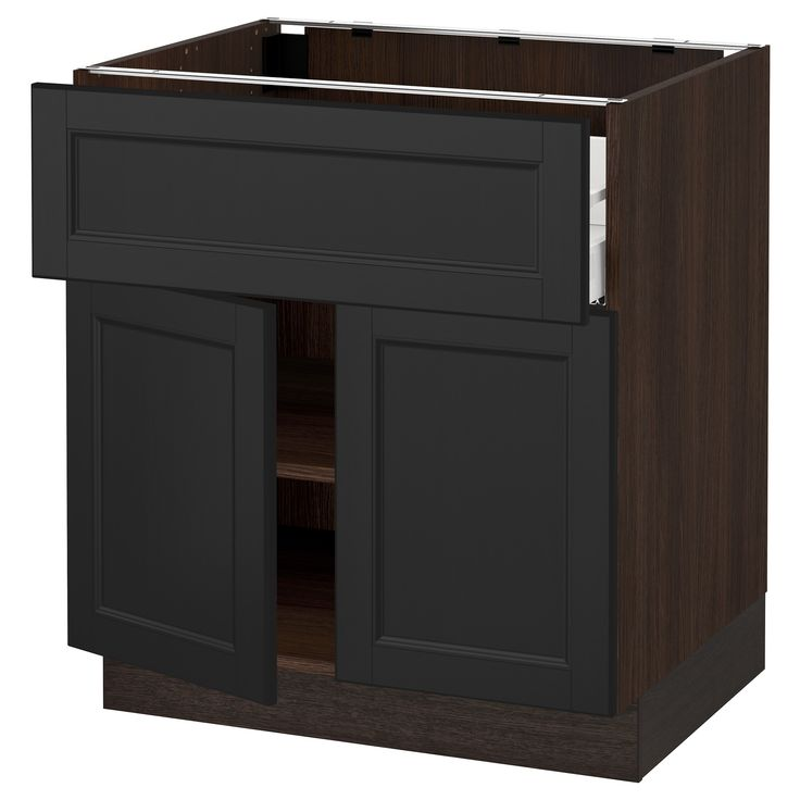 IKEA - SEKTION wood effect brown Base cabinet with drawer/2 doors
