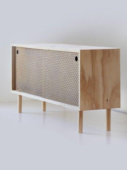 Side board – Ply brown pegboard