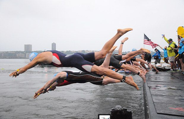 Conquer your fear of the open water swim and jump in! #ows #swimming #triathlon