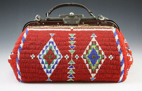 Sioux Beaded Doctor's Bag. Important Native American art for sale on CuratorsEye.com