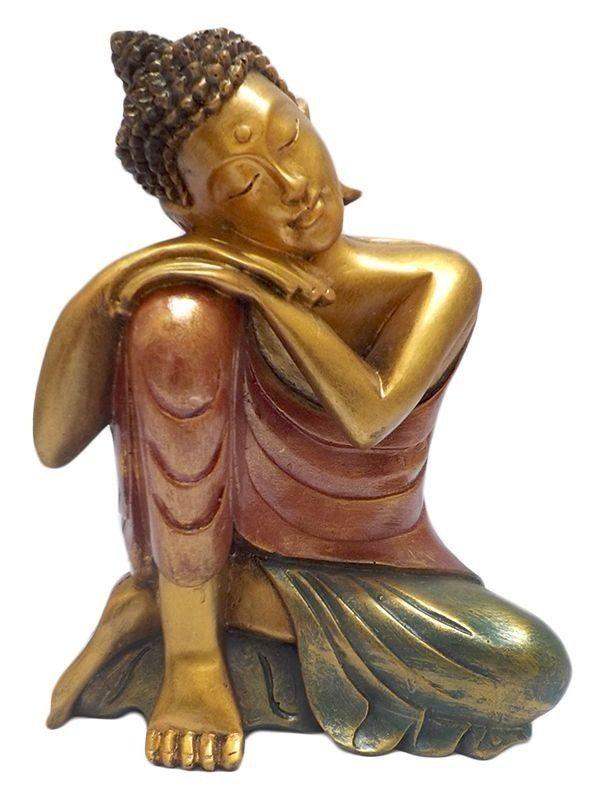 Escultura Buddha Relax p/ Decoração 30cm - Arte de Bali - http://www.artesintonia.com.br/escultura-buddha-relax-p-decoracao-30cm-arte-de-bali