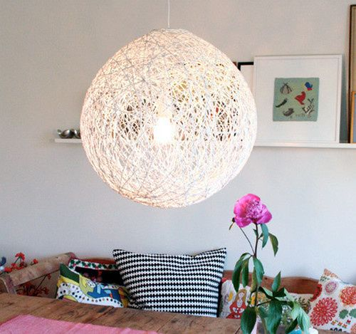 I'm going to use my yarn stash and make a lampshade, but I'm thinking of using a standard shade shape and using that instead of a balloon for the base.