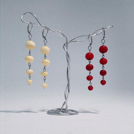 Orecchini quattro perle vetro di Murano di IlLumediVania su Etsy