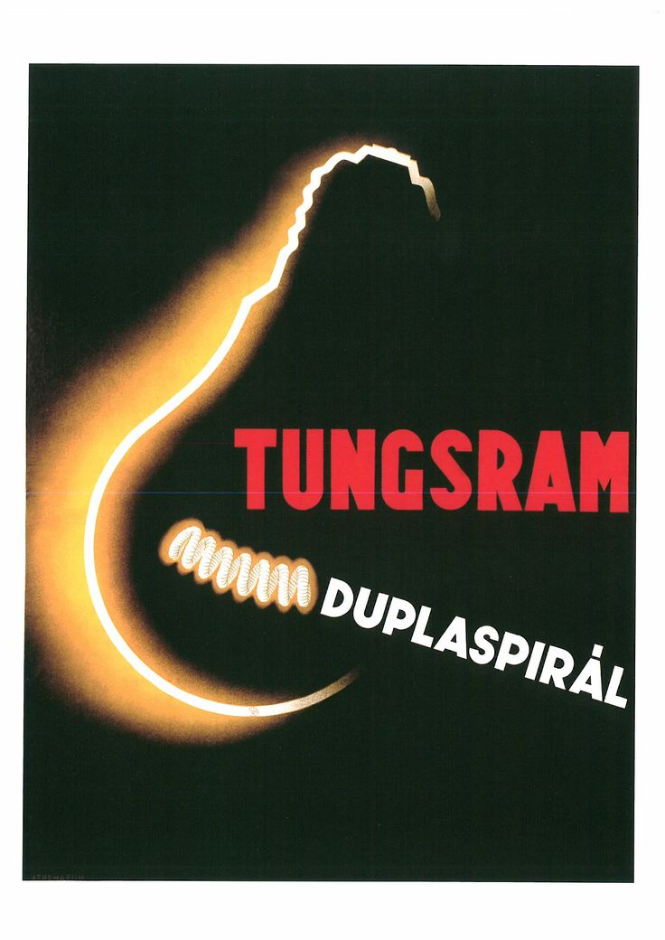 164. ENDRE VÁNDOR (1910-¿?) Tungsram. Duplaspirál (Tungsram. Espiral doble). 1935