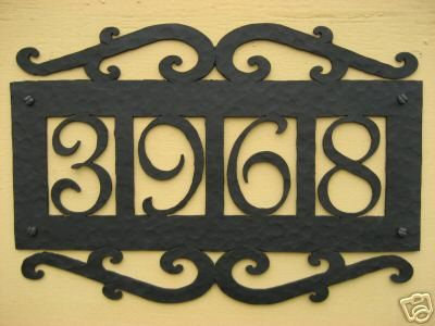 Best 25 home address signs ideas on pinterest diy house for Spanish style house numbers