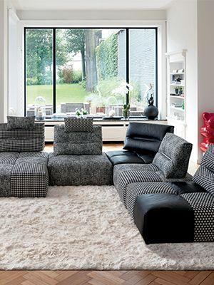 am nager son salon carr nos conseils maison pinterest coin tv salon marocain moderne. Black Bedroom Furniture Sets. Home Design Ideas