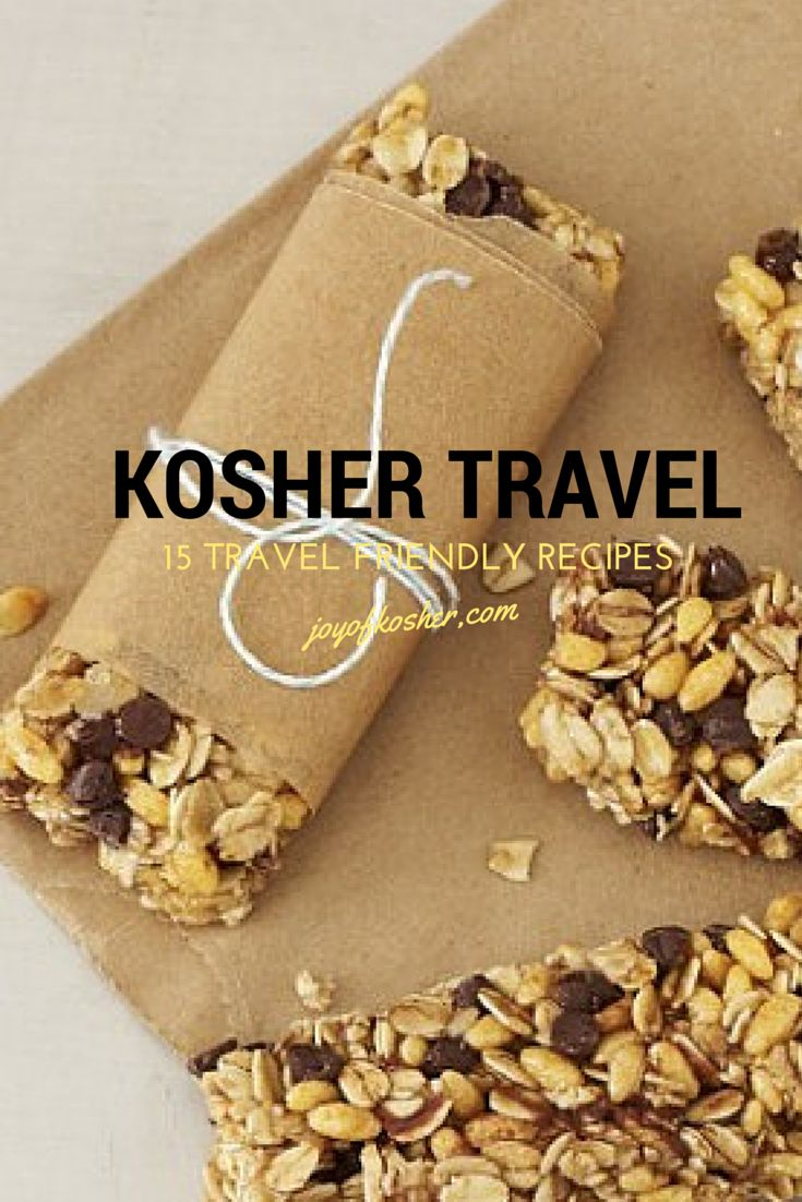 Kosher and healthy travel-friendly recipes--great recipes for snacks for kids and adults to carry around when you are doing errands.