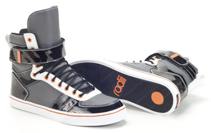 Radii Kicks Store - Radi Moon Walker Men's High Top Sneakers Blk/Wht/Org, $99.95 (http://www.radiikicks.com/radi-moon-walker-mens-high-top-sneakers-blk-wht-org/)