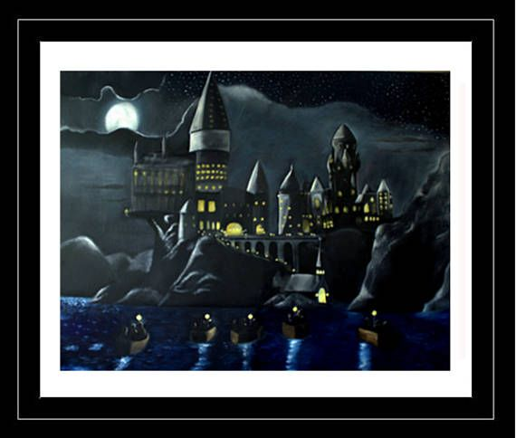 Welcome to Hogwarts  PRINT  Full Color 16 x 20