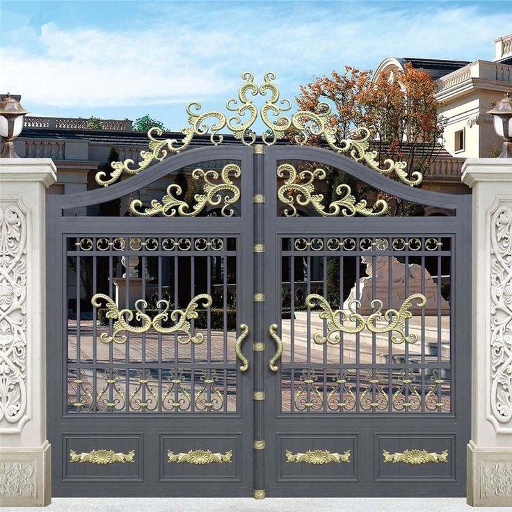 Latest Cheap Indian House Wrought Iron Steel Main Gate: 25+ Best Ideas About Modern Gates On Pinterest