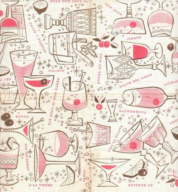bottoms up- Cocktail napkin #cocktails #mrcalifornia