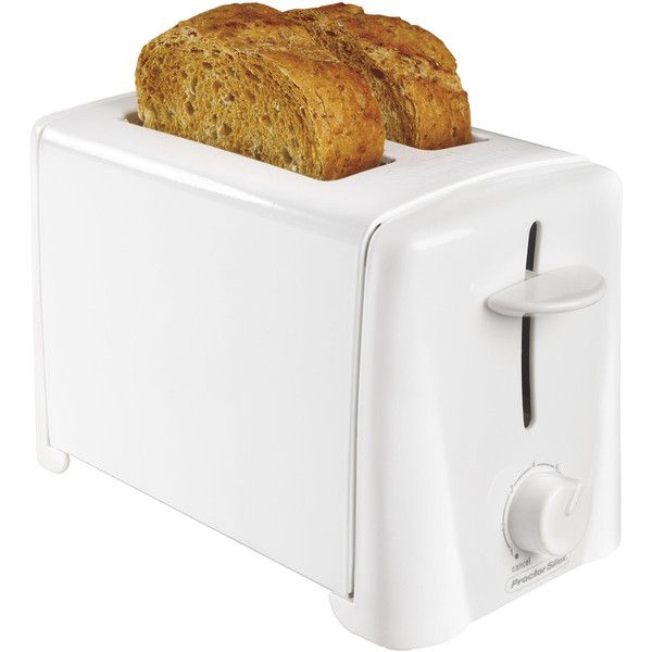 White 2-Slice Toaster: Toast Right Every Time with Kmart ❤ liked on Polyvore featuring home, kitchen & dining, small appliances, white toaster, white 2 slice toaster, white two slice toaster, 2 slice toaster and two slice toaster