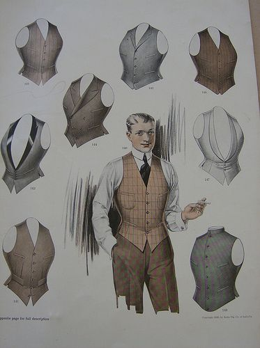 1920s waistcoats: fashion was clearly better in the past.